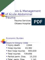 Diagnosis Management Acute Abdominal Trauma
