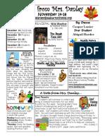newsletter november 14-18