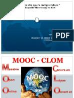 Avantages des cours en ligne (Mooc) via Dispositif MOOC Camp en RDC