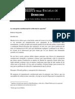 La concepción constitucional de la libertad de expresión (Roberto Gargarella)