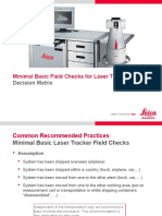 Basic Field Checks for Laser Tracker System
