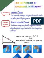 Teorema Lui Pitagora Si Teorema Reciproca