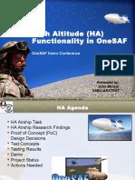 1045 - High Altitude (HA) Functionality in OneSAF UC09 - Morash
