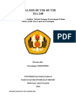 Tugas Audit Khusus - Analisis Isa 240 (Suryaningsi 120620150002)