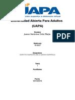 Didáctica Especial de La Lengua Española Tema i