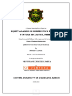 Equity Analysis at Ventura Securities