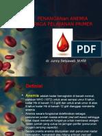 Penangan Anemia Pada Pelayanan Primer