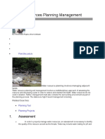 Water Resources Planning Management