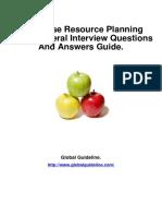 Enterprise Resource Planning (ERP) General Job Interview Preparation Guide