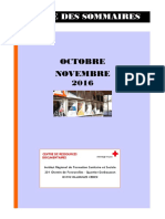 RS Octobre, Novembre 2016