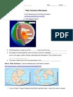 plate tectonics webquest dynamic earth