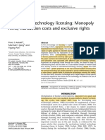 International technology licensing