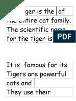 Short Tiger Text Strips