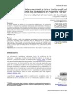 Participación ciudadana en América del Sur