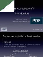 Acoustique1 Introduction