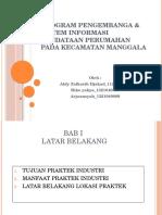 Program Pengembanga & Sistem Informasi Pendataan Perumahan Pada
