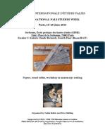 Parisian Pali Week Programme