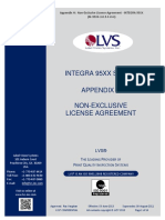 Appendix H - Non Exclusive License Agreement - INTEGRA 95XX - M-95XX-3.0.9-F-0-H.pdf