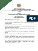 Conteúdo Programático Edital 70-2016