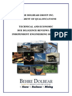 Behre+Dolbear+Due+Diligence+and+Independent+Engineer+SOQ