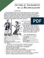 Preparación Para El Sacramento de La Reconciliación - 6 y 1 Año