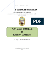 Plan de Trabajo de Tutoria