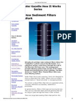 How Sediment Filters Work