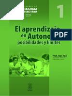 El aprendizaje en Autonomía-Joan Rué
