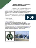 En Sayo Sobre La Importancia Del Bombeo y La Compresión de Hidrocarburos en La Industria Petrolera
