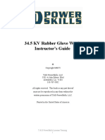 34 5 KV Rubber Glove Work - Instructor's Guide