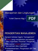 1 Dasmen Manajemen Dan Lingk