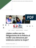 ¿Sabes Cuáles Son Las Obligaciones de La Policía Al Recibir Una Denuncia Por Violencia Contra La Mujer_ _ Blog de La Defensoría Del Pueblo