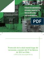 Protección de La Salud Mental Luego Del Terremoto y Tsunami Del 27 F en Chile_Crónica de Una Experiencia