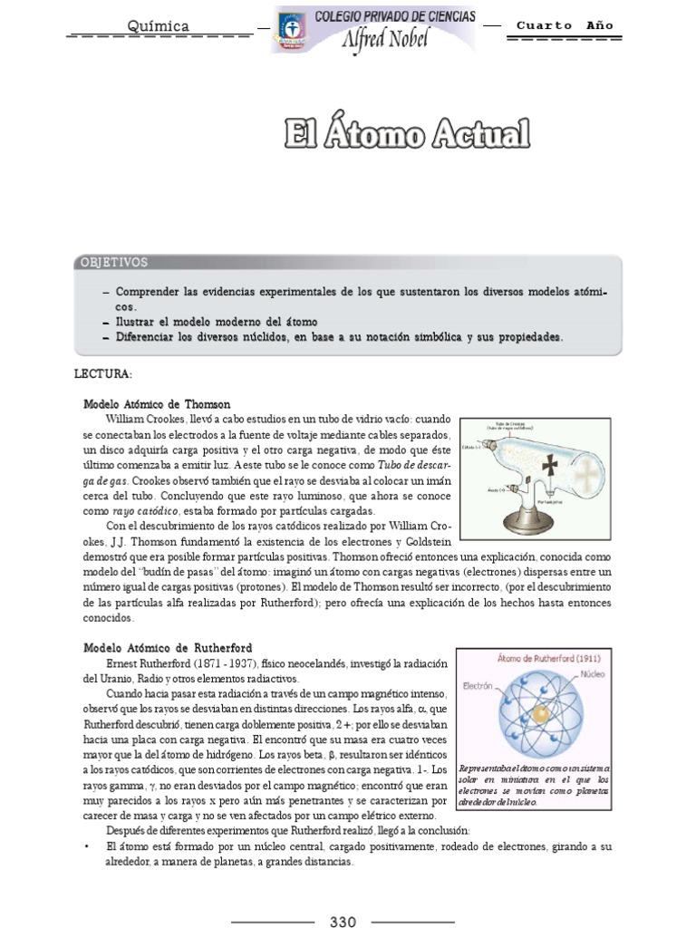 Atractivo La QuÃmica Clave De Respuestas Notación Isotópica Hoja ...