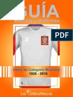 Guía de Escudos y Uniformes 2016 LaFutbolteca