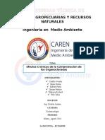 Trabajo de Ecotoxicologia - Efectos Cronicos de La Contaminacion de Los Organoclorados