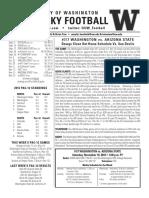 Huskies vs. ASU notes and depth chart