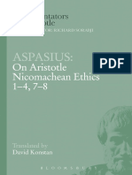 Aspasius on Aristotle Nicomachean Ethics 14 78 Ancient Commentators on Aristotle