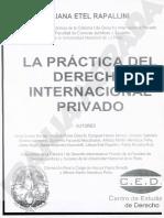 La Practica Del Derecho Internacional Priv. Rapallini