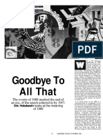 Hobsbawm Goodbye to All That 1