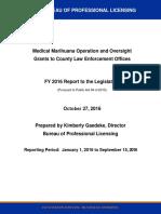 2016 Medical Marihuana Grant Report - Michigan