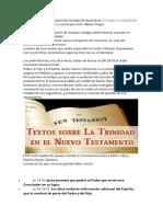 Trindade - Textos Bíblicos