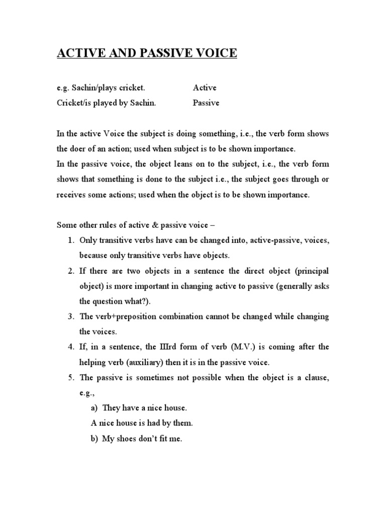 active and passive voice exercises with answers past continuous tense
