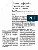 Shooting—Optimization Technique for Large Deflection Analysis of Structural Members 1992