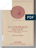 Negri, Antonio. La Anomalía Salvaje, Anthropos-UAM, México, 1993.