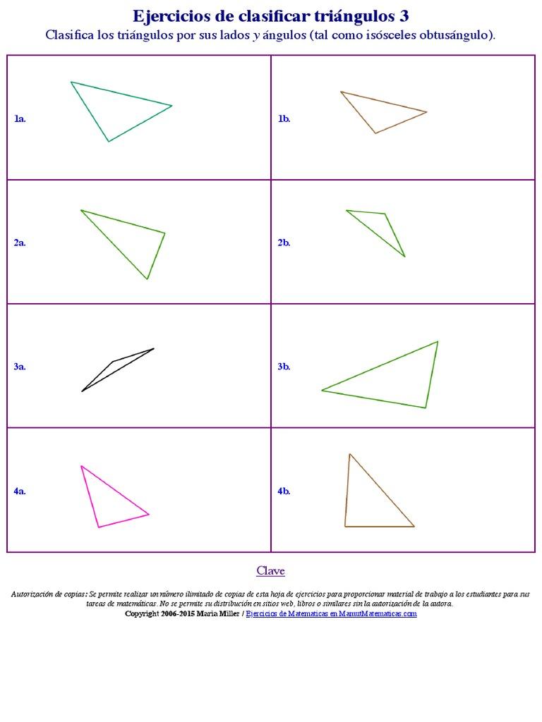 Hoja de Ejercicios 3 Triangulos