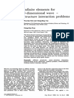 Infinite Elements for 3 Dimensional Wave — Structure Interaction Problems 1992