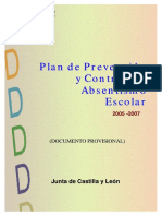 Plan de Absentismo Escolar Castilla León