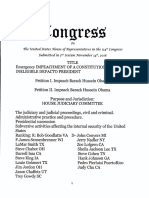 U.S. House Petition to Impeach Constitutionally Unqualified Defacto Pres