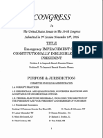 U.S. Senate Petition to Impeach Constitutionally Unqualified Defacto Pres